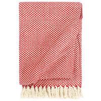 vidaXL Throw Cotton 125x150 cm Red