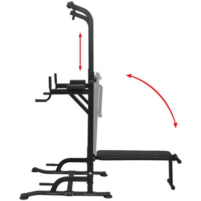 vidaXL Power Tower with Sit-up Bench