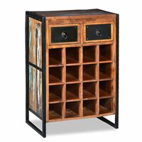 vidaXL Wine Rack for 16 Bottles Solid Reclaimed Wood
