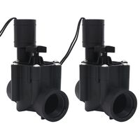 vidaXL Water Irrigation Solenoid Valves 2 pcs AC 24 V