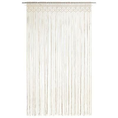vidaXL Macrame Curtain 140x240 cm Cotton