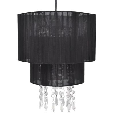 Pendant Ceiling Lamp Chandelier Crystal Black