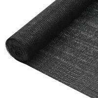 vidaXL Privacy Net Black 1.5x25 m HDPE 195 g/m²