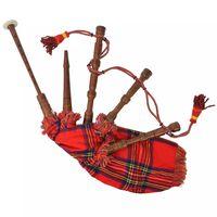 vidaXL Kid's Scottish Great Highland Bagpipes Red Royal Stewart Tartan