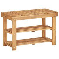 vidaXL Shoe Rack 70x32x46 cm Solid Acacia Wood