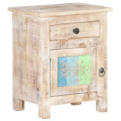vidaXL Bedside Cabinet 40x30x50 cm Rough Acacia Wood