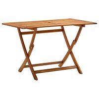vidaXL Folding Garden Table 120x70x75 cm Solid Acacia Wood