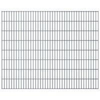 vidaXL 2D Garden Fence Panels 2.008x1.63 m  6 m (Total Length) Grey