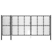 vidaXL Garden Gate Steel 500x175 cm Black