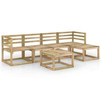 vidaXL 6 Piece Garden Lounge Set Green Impregnated Pinewood