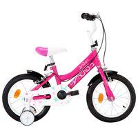 vidaXL Kids Bike 14 inch Black and Pink