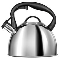 Smile whistling kettle silver