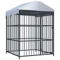 vidaXL Outdoor Dog Kennel with Roof 150x150x210 cm