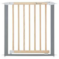 Badabulle Safety Gate Safe & Lock Wood and Metal Grey 73-81.5 cm