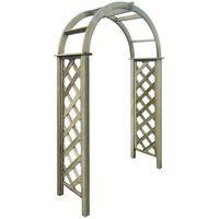 vidaXL Trellis Arch Green Impregnated Pinewood