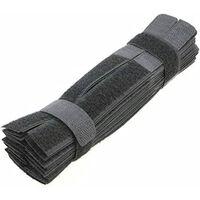 Strap Velcro 50-pacáiste Dubh