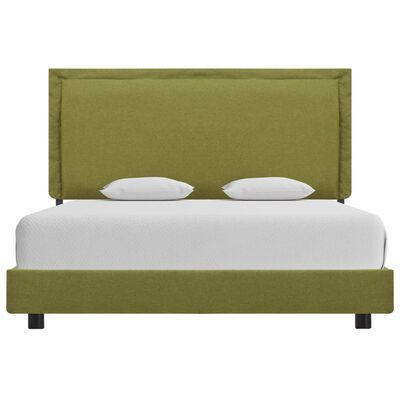 vidaXL Bed Frame Green Fabric 120x190 cm