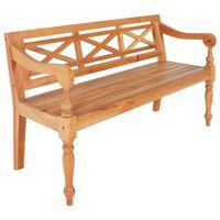 vidaXL Batavia Bench 136 cm Solid Mahogany Wood Light Brown