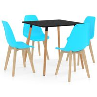 vidaXL 5 Piece Dining Set Blue