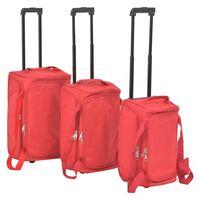 vidaXL 3 Piece Luggage Set Red