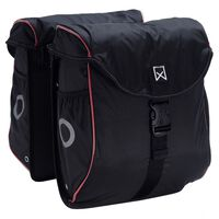 Willex Bicycle Panniers 300 Flexi 24 L Black and Red