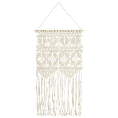 vidaXL Macrame Wall Hanger 40x80 cm Cotton
