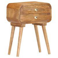 vidaXL Bedside Cabinet 43x30x58 cm Solid Mango Wood