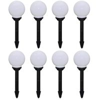 vidaXL Outdoor Pathway Lamps 8 pcs LED 15 cm with Ground Spike