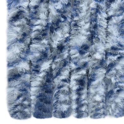 vidaXL Insect Curtain Blue and White 120x220 cm Chenille