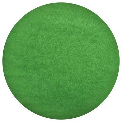 vidaXL Artificial Grass with Studs Dia.95 cm Green Round