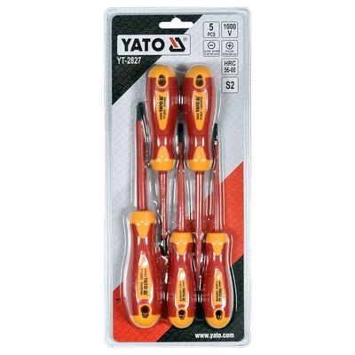 YATO 5 Piece Insulated Screwdriver Set 1000V