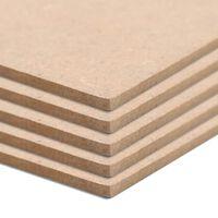 vidaXL 4 pcs MDF Sheets Square 60x60 cm 12 mm