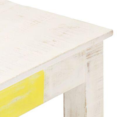 vidaXL Dining Table White 120x60x76 cm Solid Mango Wood