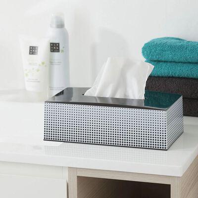 Sealskin Tissue Box Holder Speckles Black 361890819,