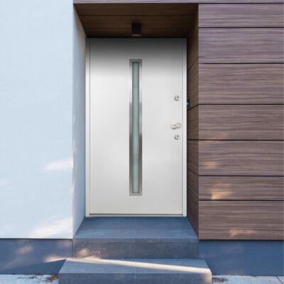 vidaXL Aluminium Front Door White 100x200 cm