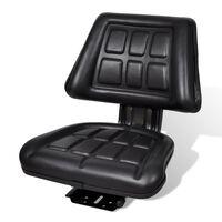 vidaXL Tractor Seat with Backrest Black