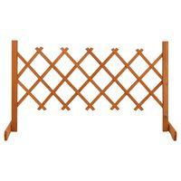 vidaXL Garden Trellis Fence Orange 120x60 cm Solid Firwood