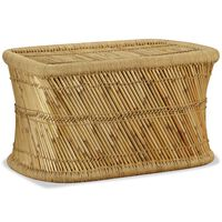 vidaXL Coffee Table Rectangular 78x50x45 cm Bamboo