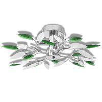 Ceiling Lamp Acrylic Crystal Leaf Arms 3 E14 Bulbs