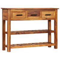 vidaXL Sideboard with 3 Drawers 110x30x80 cm Solid Sheesham Wood