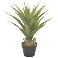 vidaXL Artificial Plant Yucca with Pot Green 60 cm