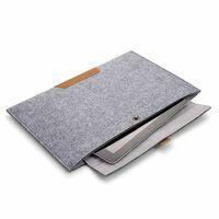 Macbook case iPad case 13 inch - wool felt gray