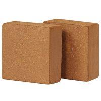 vidaXL Coir Blocks 2 pcs 5 kg 30x30x10 cm