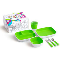 Munchkin 7 Piece Table Dining Set Color Me Hungry Green