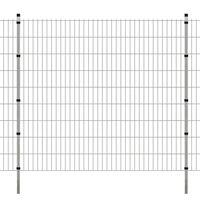 vidaXL 2D Garden Fence Panels & Posts 2008x1830 mm 18 m Silver