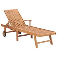 vidaXL Sun Lounger Solid Teak Wood