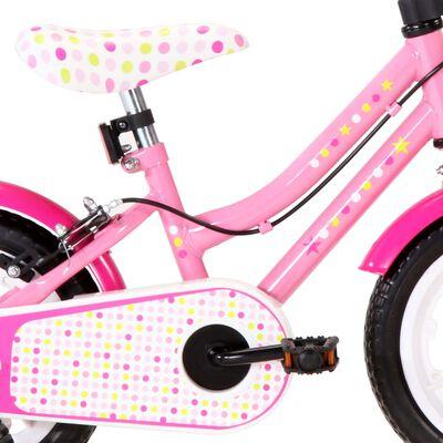 vidaXL Kids Bike 12 inch White and Pink