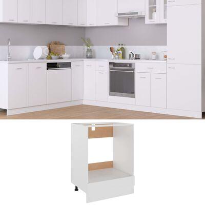 vidaXL Oven Cabinet White 60x46x81.5 cm Chipboard