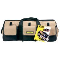 Toolpack Tool Bag Long Neck Black and Beige 58x26x26 cm 360.020