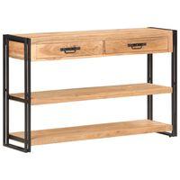 vidaXL Sideboard 120x30x75 cm Solid Acacia Wood
